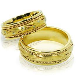 """Обручальные кольца парные из золота 585 пробы, серия """"Twin set"""", артикул R-ТС 1650_1/001"""
