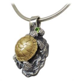 Кулон Черепашка серебро, артикул R-304406