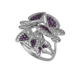 Кольцо Бабочки золото фианит, артикул R-ТТ1129