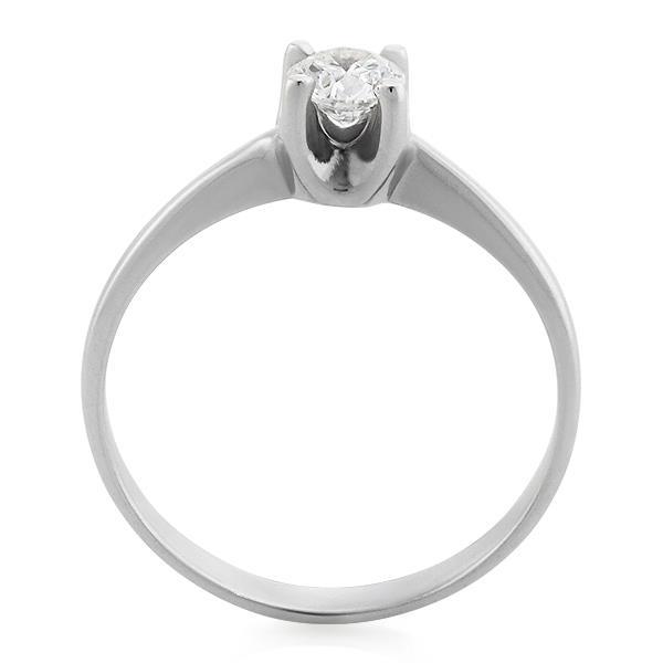 Помолвочное кольцо с 1 бриллиантом 0,30 ct 4/5 белое золото 585°