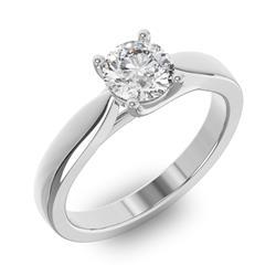 Помолвочное кольцо 1 бриллиантом 0,70 ct 4/5 из белого золота 585°, артикул R-D38231-2