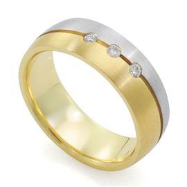 Классическое обручальное кольцо с бриллиантами, артикул R-66-323-1