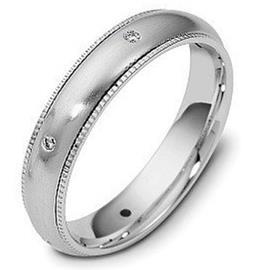 Обручальное кольцо с бриллиантами из белого золота 585 пробы с бриллиантами, артикул R-1688/001