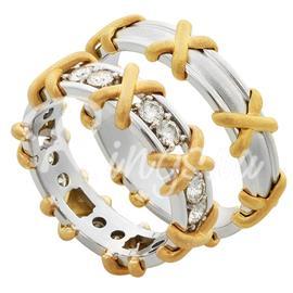 """Эксклюзивные обручальные кольца парные ручной работы из коллекции """"Версаль"""", артикул R-ТС V-175"""