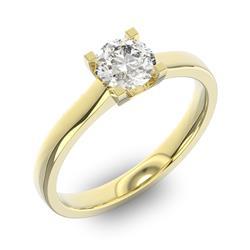Помолвочное кольцо 1 бриллиантом 0,65 ct 4/5 из желтого золота 585°, артикул R-D37664-1