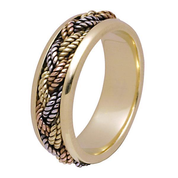 Эксклюзивное обручальное кольцо из золота 585 пробы, артикул R-10131/001
