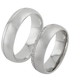 Обручальные кольца с бриллиантами из белого золота, артикул R-ТС 3313