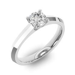 Помолвочное кольцо 1 бриллиантом 0,5 ct 4/5 из белого золота 585°, артикул R-D35995-2