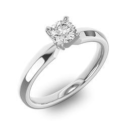Помолвочное кольцо 1 бриллиантом 0,5 ct 4/5 из белого золота 585°, артикул R-D42635-2