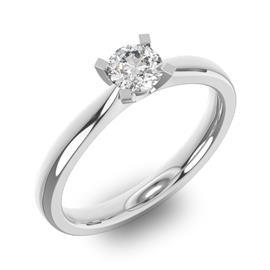 Помолвочное кольцо 1 бриллиантом 0,39 ct 4/5 из белого золота 585°, артикул R-D36766-2