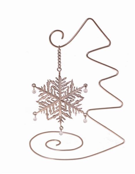 Новогодний подарок сувенир Снежинка с янтарём