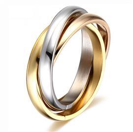 Обручальное кольцо дизайнерское из желтого, белого и розового золота, комфортная посадка, артикул R-AL2320