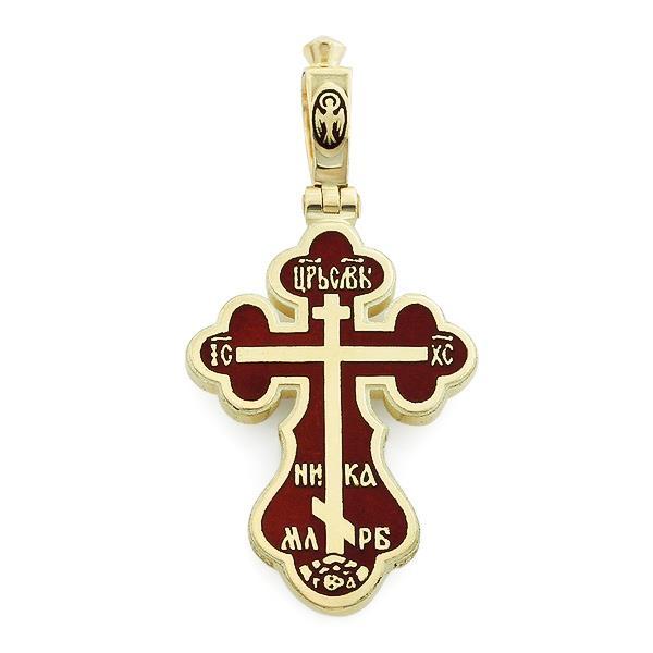 Крест православный с надписями Иисус Христос, Царь Славы, Спаси и сохрани, артикул R-РКб1602-1