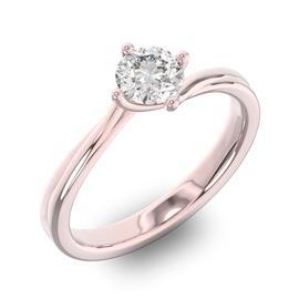 Помолвочное кольцо 1 бриллиантом 0,50 ct 4/5 из розового золота 585°, артикул R-D36640-3