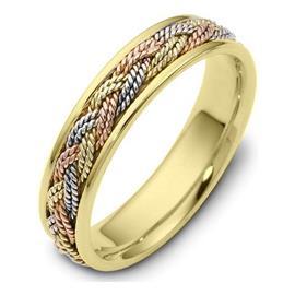 Кольцо обручальное дизайнерское  из золота 585 пробы, артикул R-1013-5