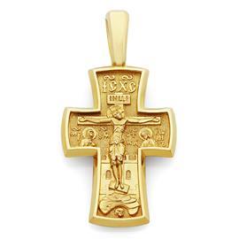 Крестик православный  Распятие Иисуса Христа, Архангел Михаил, артикул R-KRZ0102-1