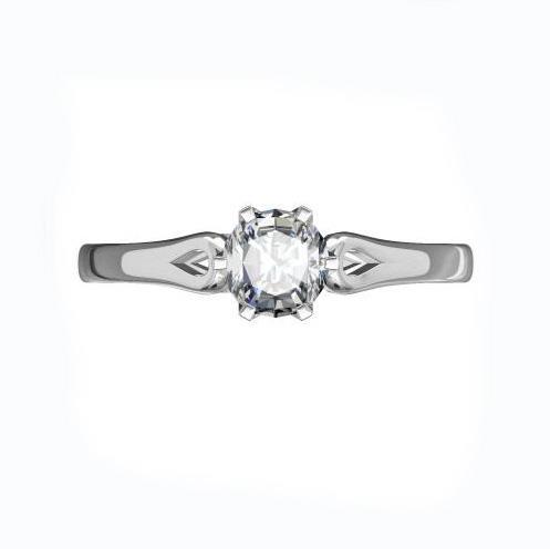 Помолвочное кольцо с 1 бриллиантом 0,20 ct 3/6  из белого золота 585°