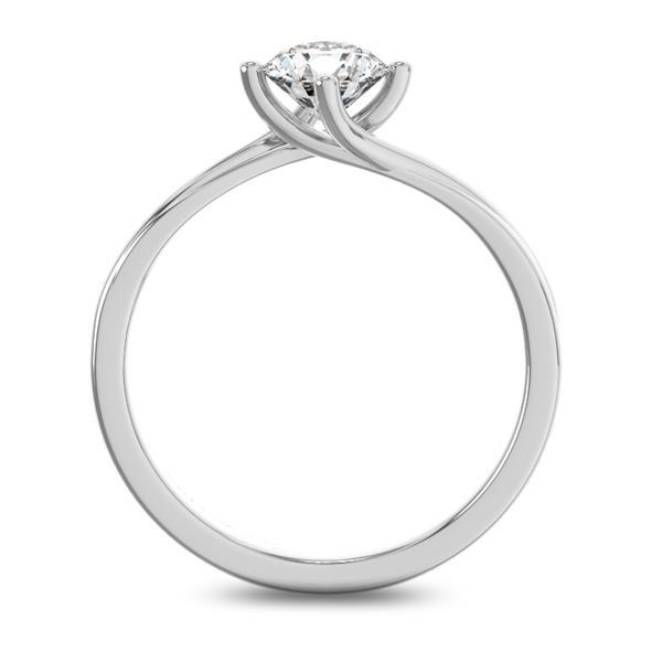 Помолвочное кольцо 1 бриллиантом 0,50 ct 4/5 из белого золота 585°