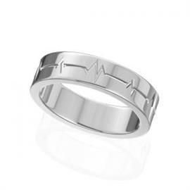 Обручальное кольцо из белого золота 585°, артикул R-W44962