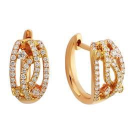 Серьги с 92 бриллиантами 0,36 ct 4/5 из розового золота, артикул R-ME006380