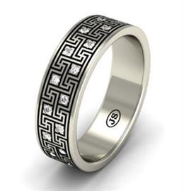 """Эксклюзивное обручальное кольцо ручной работы из  коллекции """"Илиада"""", артикул R-MD76649"""