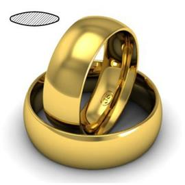 Кольцо обручальное классическое 7 мм желтое золото 585 пробы, артикул R-W675Y