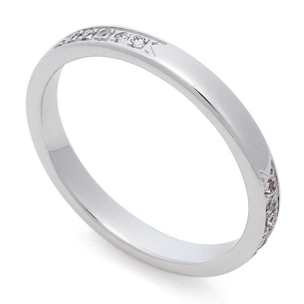 7bb6a25f4e70 ... Классическое обручальное кольцо из белого золота 585 пробы с дорожкой  из 5 бриллиантов весом 0,