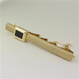 Золотой зажим для галстука 585 проба матовая поверхность, артикул R-ЭДР301