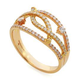 Кольцо с 78 бриллиантами 0,52 ct 4/5  из розового золота, артикул R-MR011792