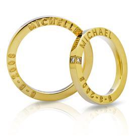 """Обручальные кольца парные из золота 585 пробы cерии """"Twin Set"""", артикул R-ТС 1608"""