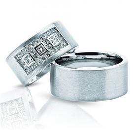 Обручальные кольца парные серии Twin Set