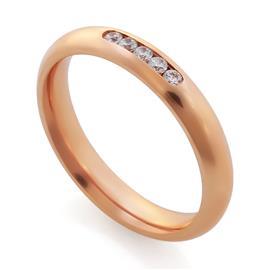 Обручальные кольца с бриллиантами 0,13 ct 4/5 розовое золото, артикул R-A14045-3