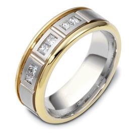 Обручальное кольцо с бриллиантами из золота 585 пробы, артикул R-3299