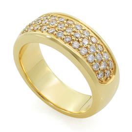 Обручальное кольцо с бриллиантами из желтого  золота, артикул R-3298-1