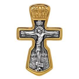 Крест нательный православный Распятие, артикул R-101.010