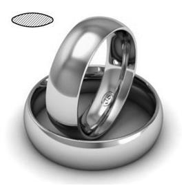 Обручальное кольцо из платины, ширина 6 мм, комфортная посадка, артикул R-W669Pt