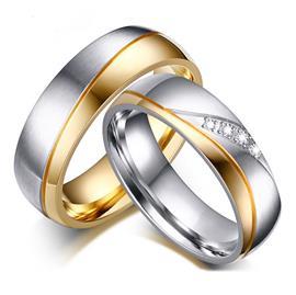 Обручальные кольца парные с бриллиантами из золота 585 пробы, артикул R-ТС AL2304