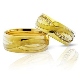 Обручальные кольца с бриллиантами из золота, артикул R-ТС 3233