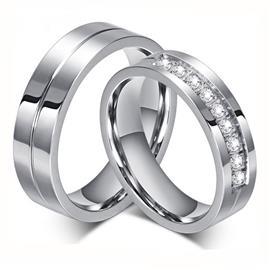 Обручальные кольца парные с бриллиантами из золота 585 пробы, артикул R-ТС AL2316-2