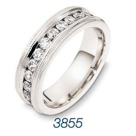 Эксклюзивное обручальное кольцо с бриллиантами из золота 585 пробы, артикул R-Т3855