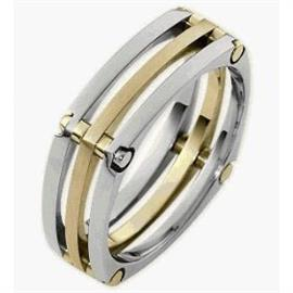Обручальное кольцо из золота 585 пробы, артикул R-2357-4