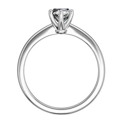 Кольцо с 1 бриллиантом 0,20 ct 4/5  из белого золота 585°