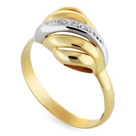Кольцо с 6 бриллиантами 0,07 ct 3/3 из желтого золота, артикул R-6413