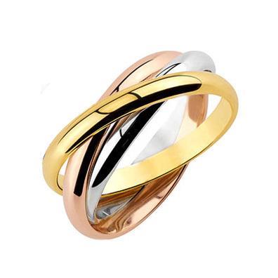 Купить Обручальное кольцо Тринити из золота    Ювелирный интернет ... c038d2be9d3